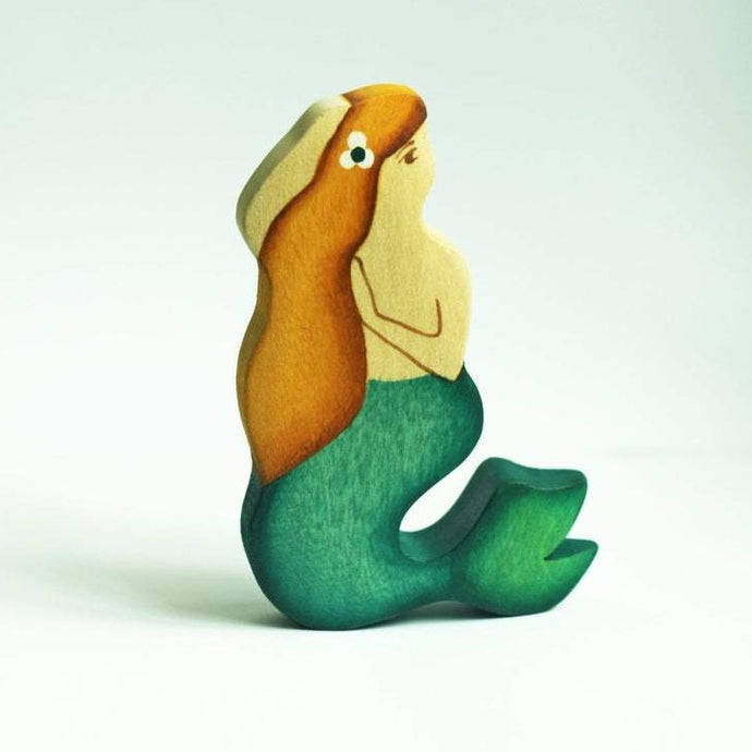 Blonde Mermaid - Fairy Wooden Handmade Waldorf Open-ended Toy
