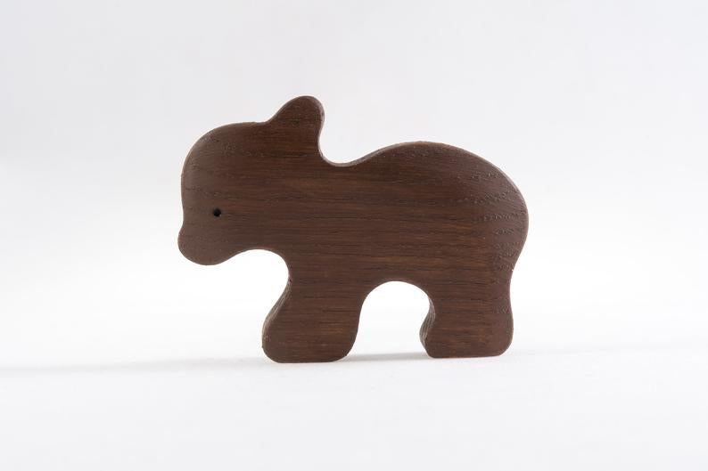 The Baby Bear - Wooden Animal Handmade Montessori Open-ended Toy
