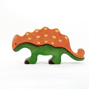The Euoplocephalus - Wooden Dino Handmade Montessori Open-ended Toy