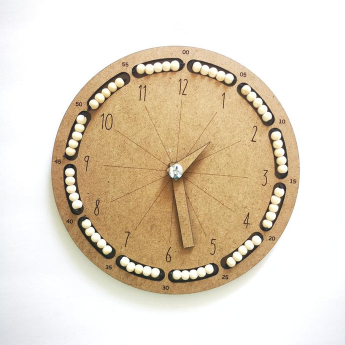 Educational Clock - Montessori Learning Materials -Learning by Playing