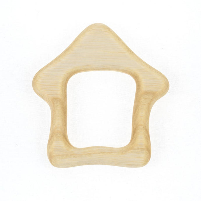 House Teether - Natural Wooden Handmade Eco-Friendly Pacifier