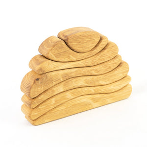 Nature Sun Puzzle- Wooden Handmade Stacking Open-ended Toy