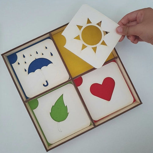 Color Sorting Game - Montessori Learning by Playing Sensorial Materials