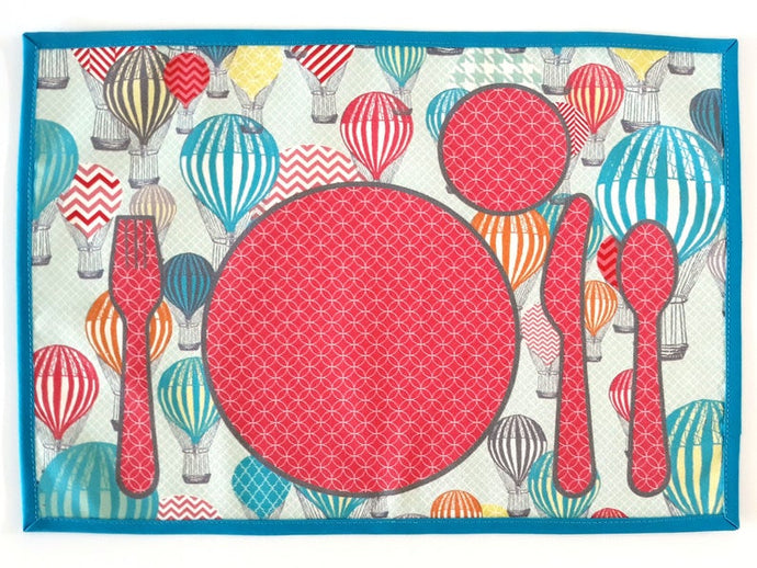 Montessori Balloons Background Table Setting Placemat - Practical Life