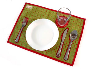 Montessori Red Table Setting Placemat - Support Children Independence