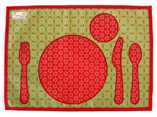 Load image into Gallery viewer, Montessori Red Table Setting Placemat - Support Children Independence