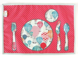 Montessori Balloons Table Setting Placemat - Practical Life Material