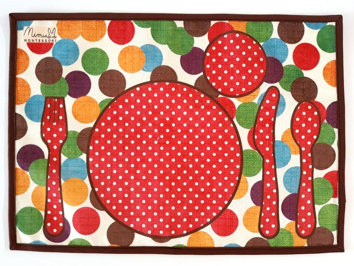 Montessori Polka-Dot Table Setting Placemat - Practical Life Material