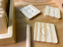 Laden Sie das Bild in den Galerie-Viewer, Wooden Alphabet Tracing Cards - Handmade Montessori Learning by Playing Materials