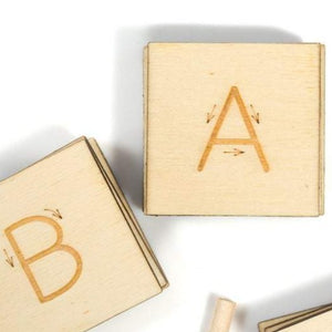 Alphabet Tracing Tiles - Handmade Montessori Learning by Playing Materials