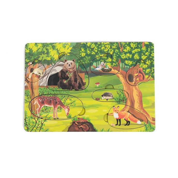 Forest Animals Puzzle - Montessori Learning by Playing Materials