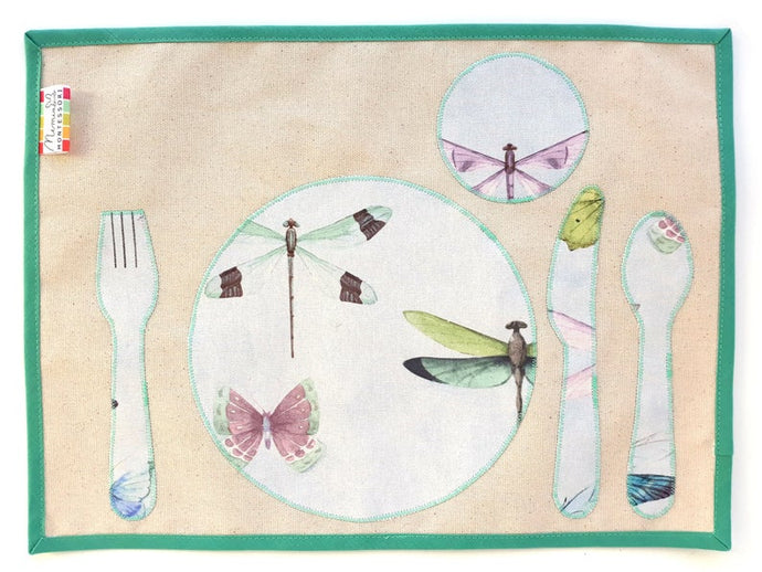 Montessori Dragonflies & Butterflies Table Setting Placemat- Practical Life Material