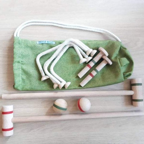 Wooden Croquet Set - Handmade Waldorf Montessori Active Play Materials