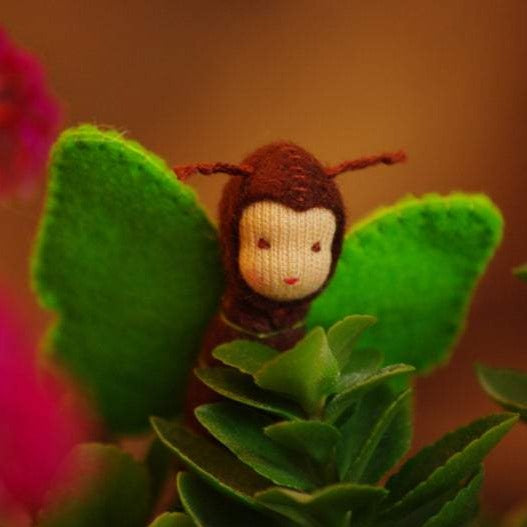 Butterfly Waldorf Tiny Doll - Unique handmade toy