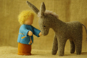 Donkey Waldorf Stuffed Animal - Unique handmade toy