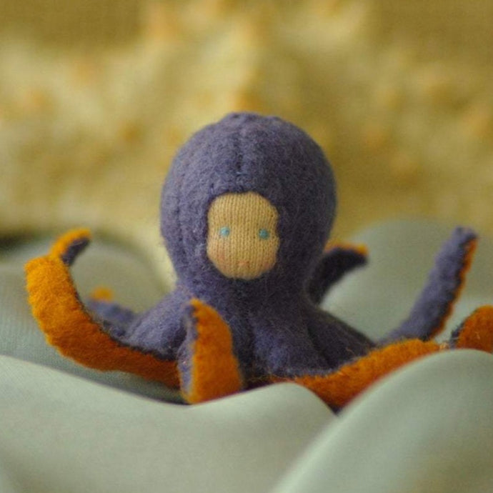 Octopus Waldorf Tiny Doll - Unique handmade toy