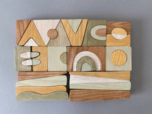 Load image into Gallery viewer, Puzzle Blocks- Wooden Handmade Open-ended Toy
