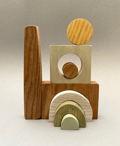 Puzzle Blocks- Wooden Handmade Open-ended Toy