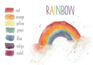 Rainbow Colors - Educational Card - Learning by Playing Materials