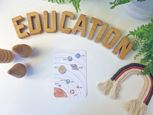 Solar System - Educational Card - Learning by Playing Materials
