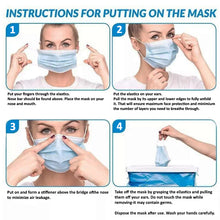Load image into Gallery viewer, Fluid-resistant Face Mask- 3 ply FDA, CE, ISO 13485 ( Box of 50 pc )