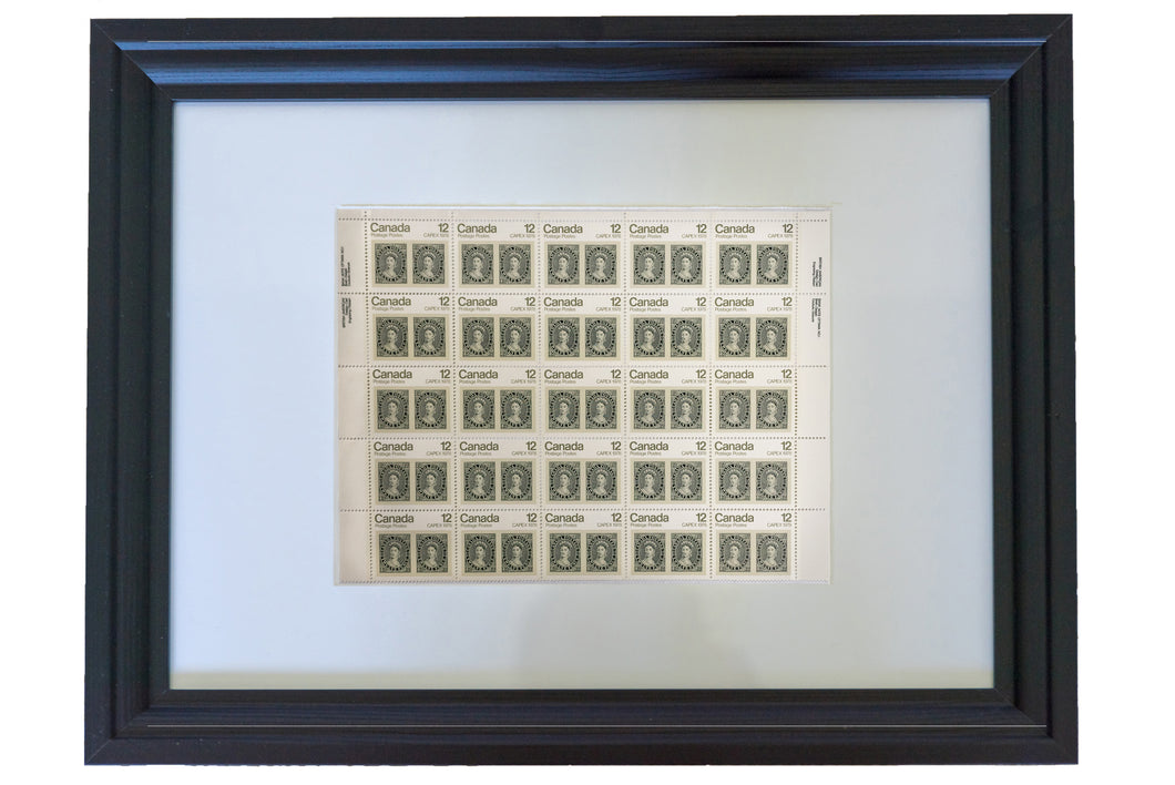 Framed Stamp - CAPEX '78 Queen Victoria #753 Canada 12¢ 1978 Pane of 25