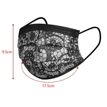 Load image into Gallery viewer, 50 PCS FASHION WOMEN LACE MASKS DISPOSABLE PROTECTION FACE MASK