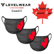 CANADA DAY GUARD 2 FACE COVERING ( FILTER NOT INCLUDED) PREPACK OF 3 - BLACK