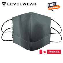 Load image into Gallery viewer, Levelwear- High Quality Reusable Cotton Face Mask - Charcoal Colour - 2 pcs per pack