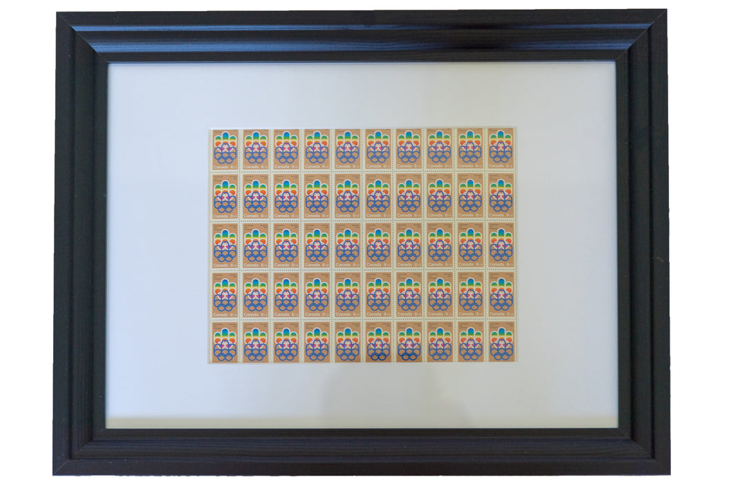 Framed Stamp Collection - Montreal Olympic Games of 1976