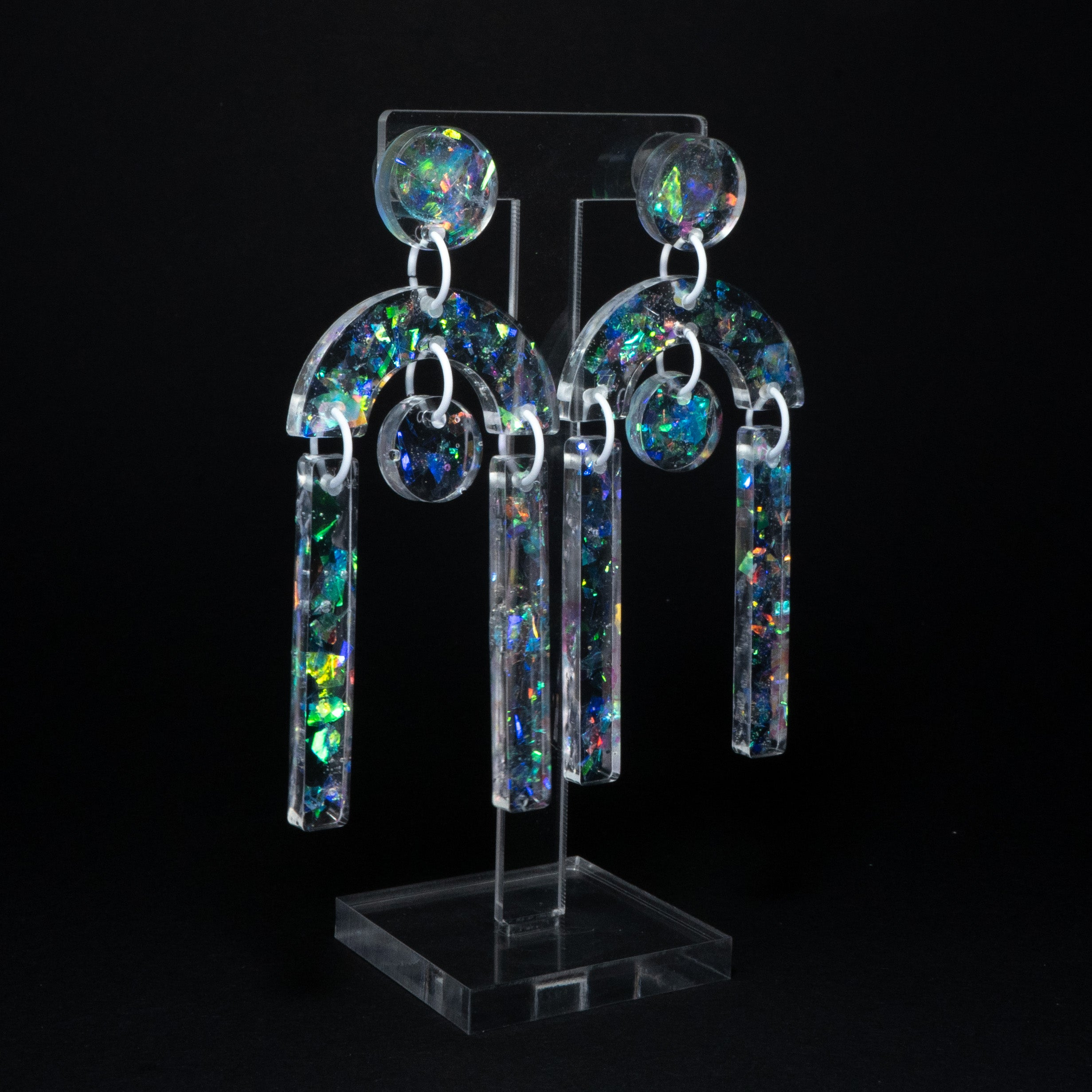 Icebreaker iridescent arch long dangles