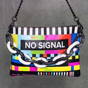 No Signal leather purse (splatter chain, black back)