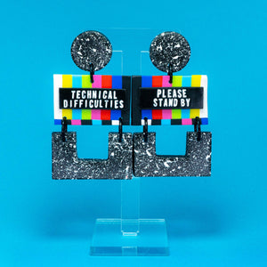"Ninka Pop ""Technical Difficulties"" dangle earrings"