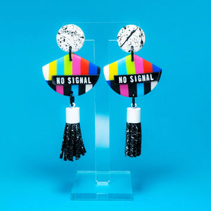 No Signal black tassel dangles