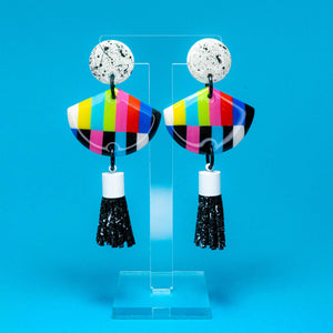No Signal black tassel resin dangles