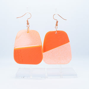 Orange diagonal Rock hooks