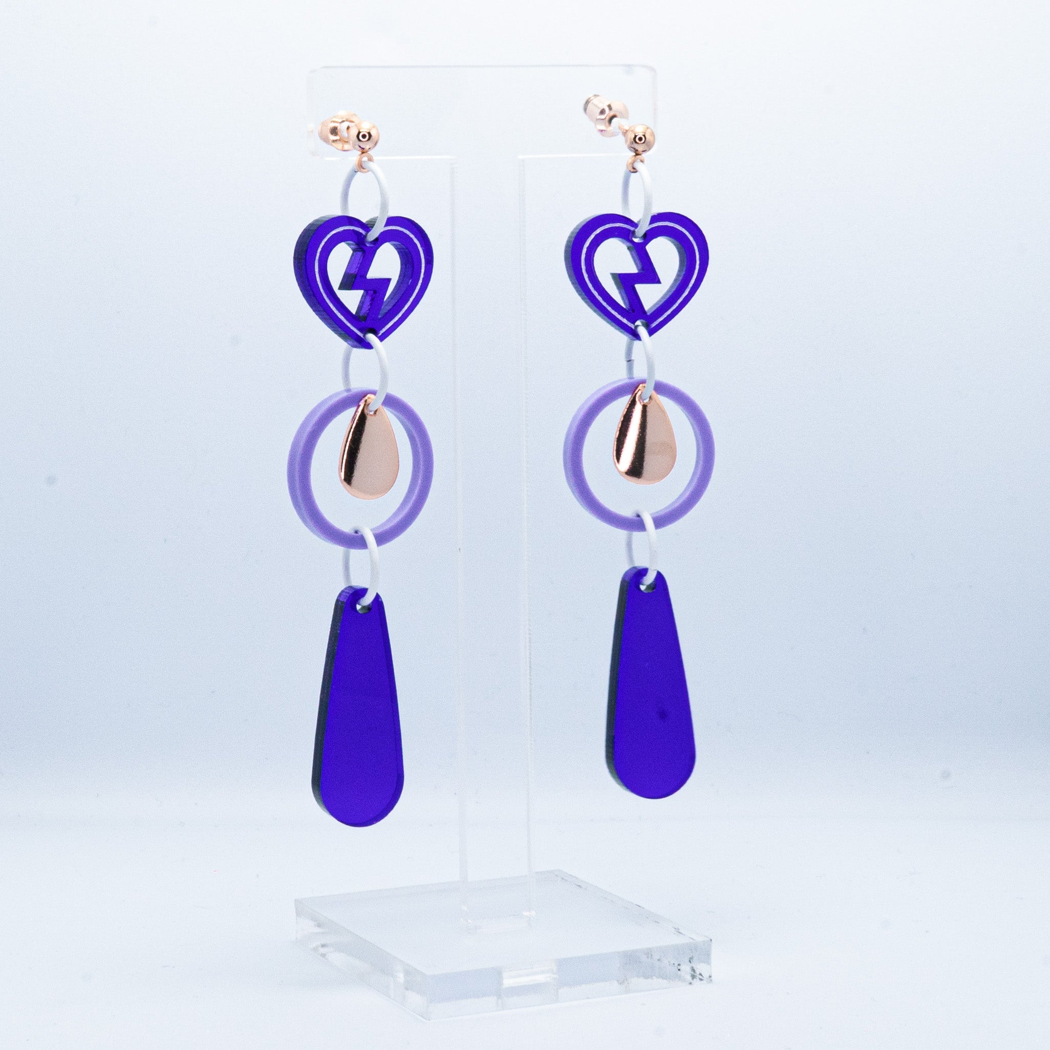 Purple heartbreaker long drop dangles