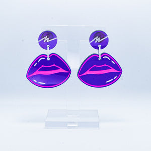 Vaporwave purple lip dangles