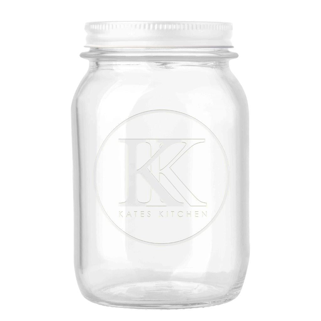 Kates Kitchen Embossed Preserving Jar 1Litre
