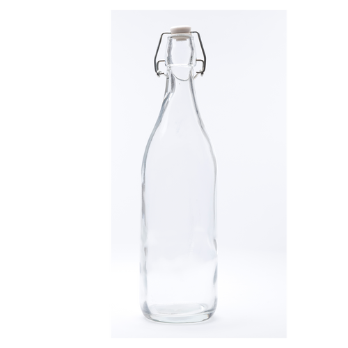 Buy round glass water bottle online nz 1 litre. stylish and functional for everyday use and when entertaining