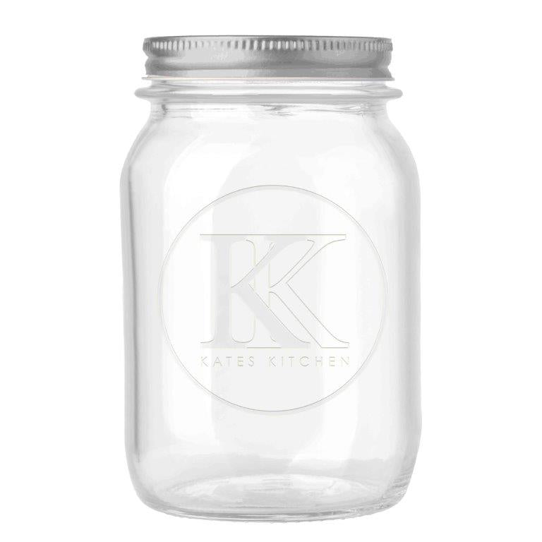 Buy Kates Kitchen 2 piece lid preserving jar. These jars are perfect for pickling and preserving with embossed design and vacuum seal, you will be able to maximise your fruit and vegetables in season