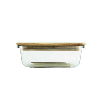 cute kates kitchen container with bamboo lid perfect for meal prep, lunch and leftovers!