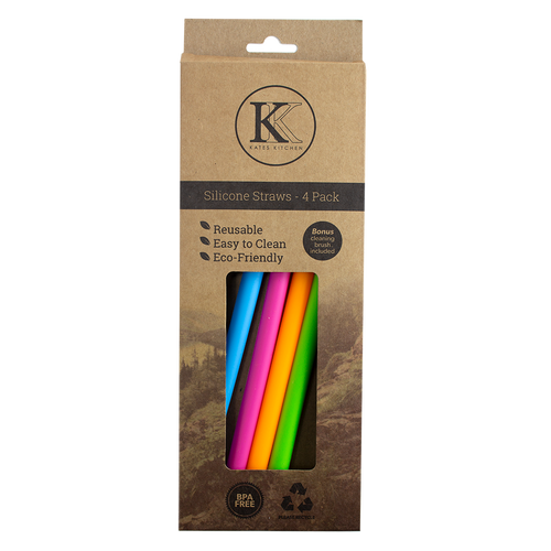 Kates Kitchen silicone straws are a stylish and environment friendly alternative to plastic straws