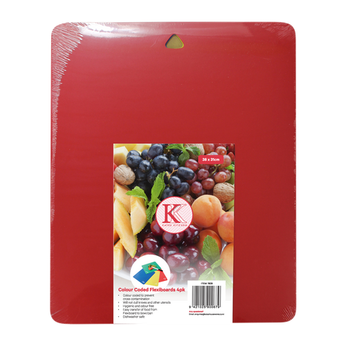 Coloured Cutting Board set for easy identification and to prevent cross contamination.