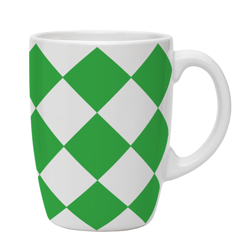 Kates Kitchen gorgeous green diamond mugs are perfect to mix and match to create your own collection.