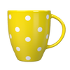 Kates Kitchen gorgeous yellow spotted mug are perfect to mix and match to create your own collection.