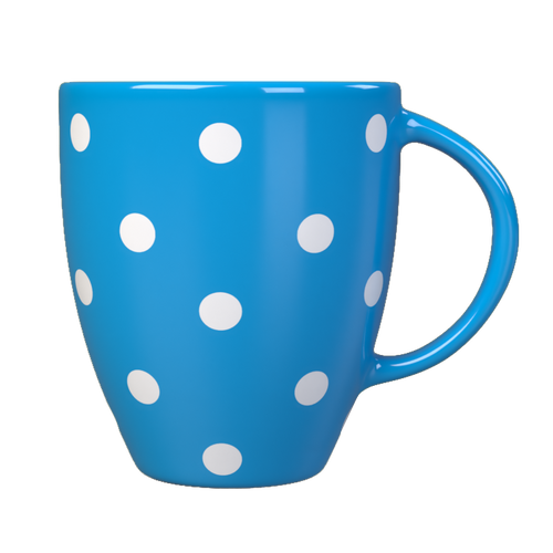 Kates Kitchen gorgeous blue spotted mug are perfect to mix and match to create your own collection.