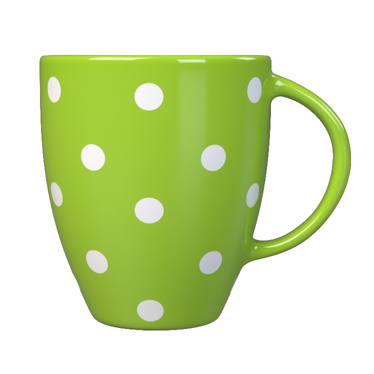 Kates Kitchen gorgeous green spotted mug are perfect to mix and match to create your own collection.
