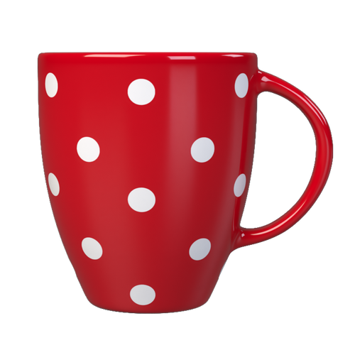 Kates Kitchen gorgeous red spotted mug are perfect to mix and match to create your own collection.