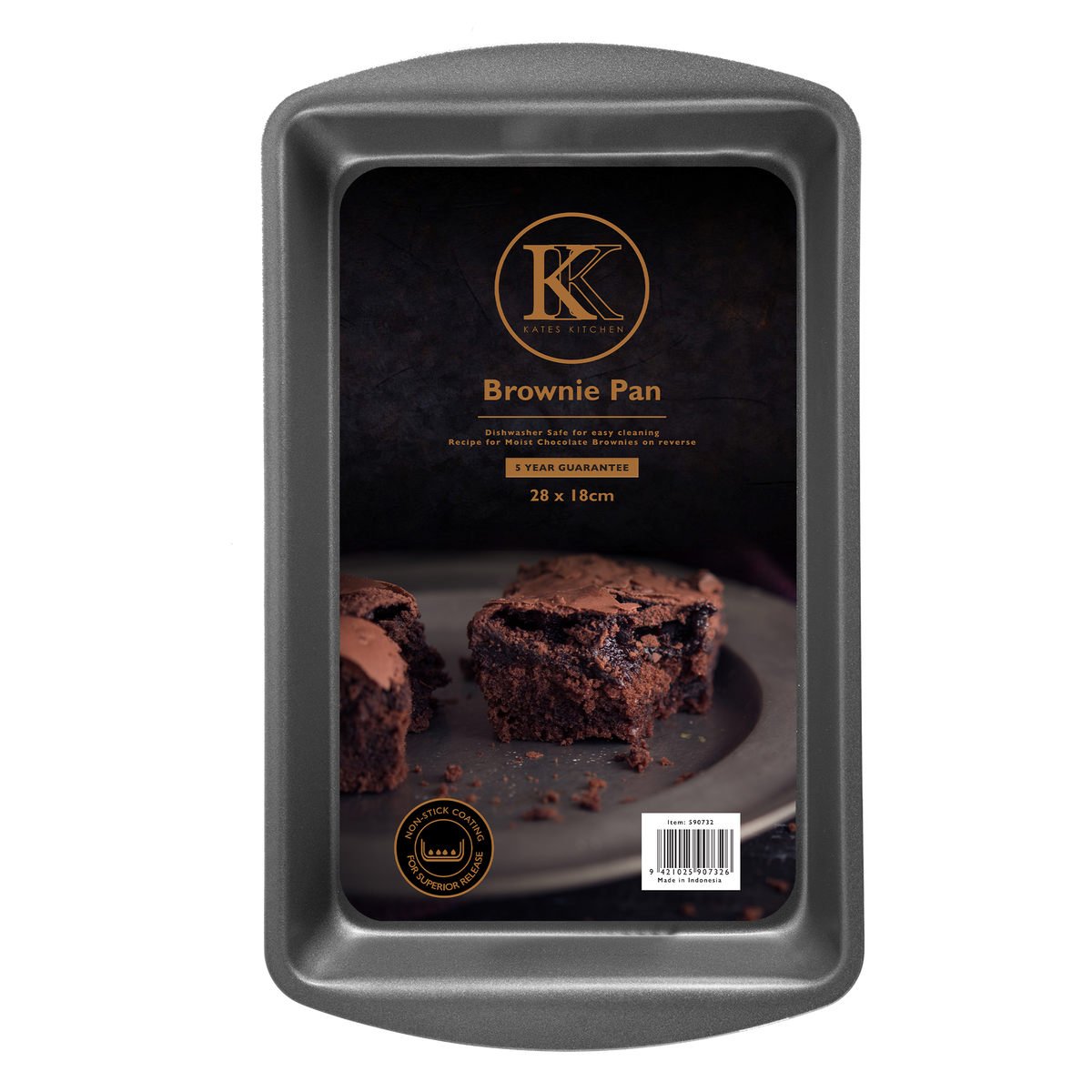Kates Kitchen Brownie Pan is perfect for creating brownies, slices and biscuits! Non stick design give reliable baking results and years of excellent performance in the kitchen